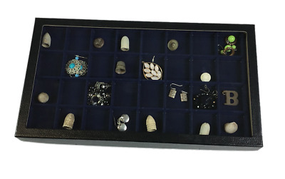 32 Compartment Riker Display Case for Jewelry, Relics, Collectibles, & Much More