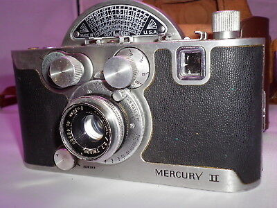 VINTAGE UNIVERSAL MERCURY 11 35mm CAMERA ...MODEL CX WITH LEATHER CASE