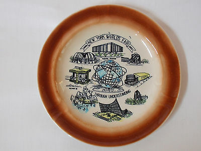 New York World's Fair 1964-1965 Commemorative Plate (or Ashtray)    7.5 inches