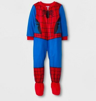 Toddler Boys' Spiderman Footed Sleeper - Red 3T