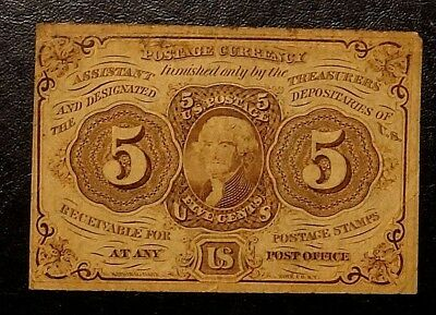 1862 Five Cent First Issue Fractional Note UNITED STATES