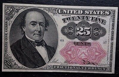 1874 Twenty Five Cents, Fifth Issue Fractional Currency UNITED STATES 23N