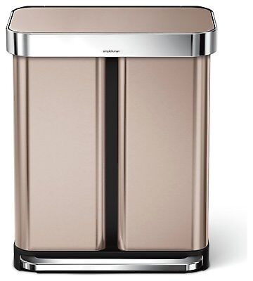 Simplehuman 58 Litre Rose Gold Recycling Bin