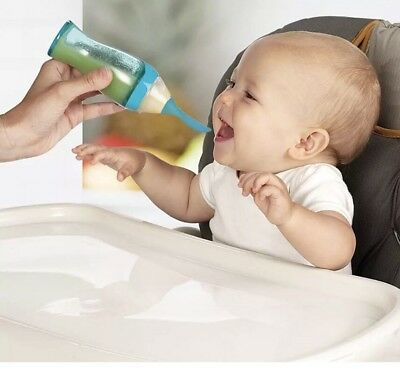 Munchkin Feeding Easy Squeezy Spoon In Blue New In Plastic