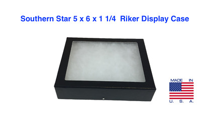 5 x 6 x 1 1/4 Riker Display Case Box for Collectibles Arrowheads Jewelry &More