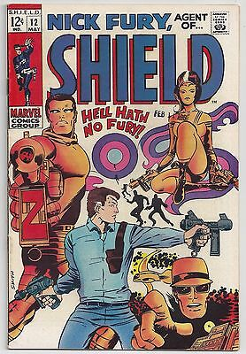 Nick Fury, Agent of SHIELD #12 (May 1969, Marvel) Parkhouse/Barry Smith  VF+