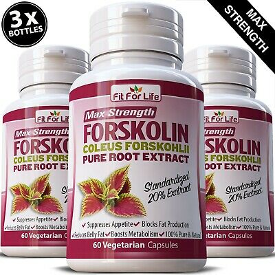 FORSKOLIN Coleus Forskohlii Pill Weight Loss Extreme 500mg 20% Extract Diet Slim