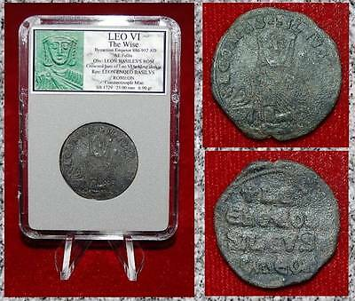 Ancient BYZANTINE EMPIRE Coin Of LEO VI CONSTANTINOPLE Mint Rare Coin