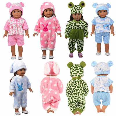 Baby Born Doll Clothes Fit 17inch Zapf Dolls Sleeping Jumpsuit Suit Doll Pajamas