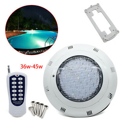 36W/45W RGB Swimming Pool Fountain Spa LED Underwater Light+RF Remote Controller