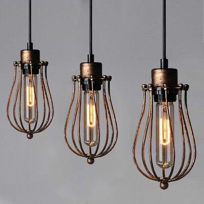 E27 Old Gold Vintage Lamp Contemporary Pendant Light Industrial Hanging Lighting
