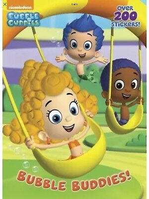 BRAND NEW Nickelodeon Bubble Guppies Buddies Sticker Coloring Book