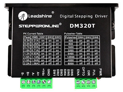Digital Stepper Motor Driver 0.3-2.2A 18-30VDC For Nema 8,11,14,16,17 Stepper