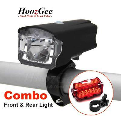 Bike Bicycle LED USB Rechargeable Front Lights Battery Operated Rear Tail Lamp