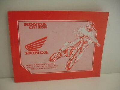 Manuel atelier Honda cr125r  cr 125 r cr125 1992 Francais English Deutsch