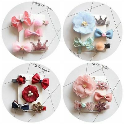Bowknot Flower Barrette Fashion Headdress Hair Clips Hairpin Hair Accessories