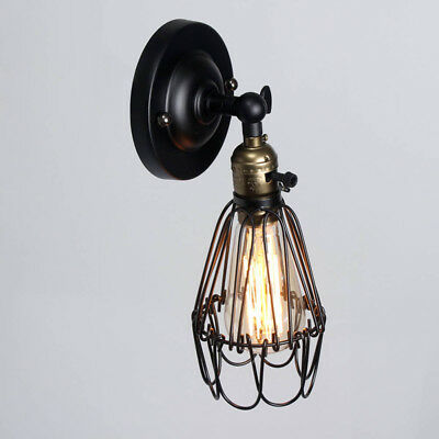Vintage Retro Metal Industrial Rotatable Wall Light Sconce Indoor Lamp Fitting