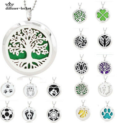 mixed style Stainless Steel plain Aromatherapy Diffuser Locket Pendant