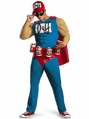 Duffman Classic Muscle The Simpsons Beer Cartoon Oktoberfest Mens Costume XL