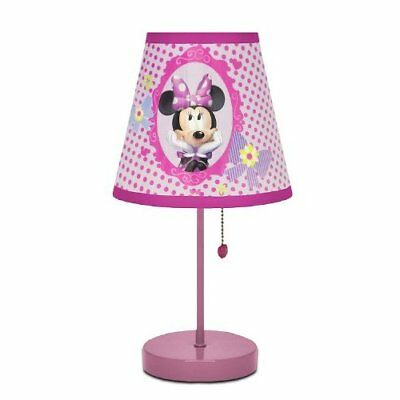 Minnie Mouse Night Light Pink Table Lamp For Girls Toddlers Unique Home Decor