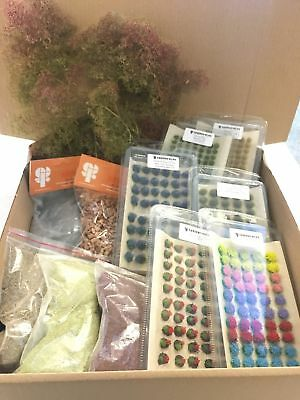 Modellers Scenery Bundle B - Railway Wargames Seafoam Grass Tufts Flock Static