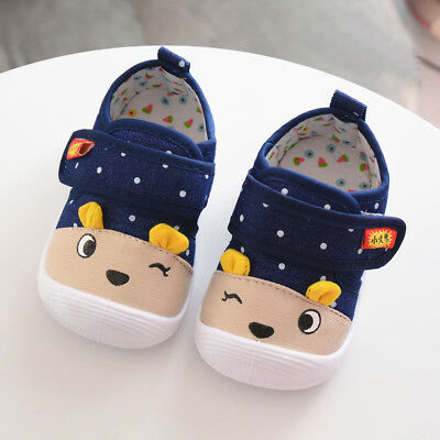 Infant Kids Baby Lovely Baby Cartoon Anti-slip Shoes Soft Sole Squeaky Sneakers
