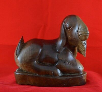 Wooden figure of a laying goat Bali Indonesia Indonesie - 1940-1950s