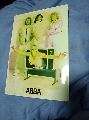 ABBA Official Discomate Promo Japan circa 1979 laminated (was used to write on)