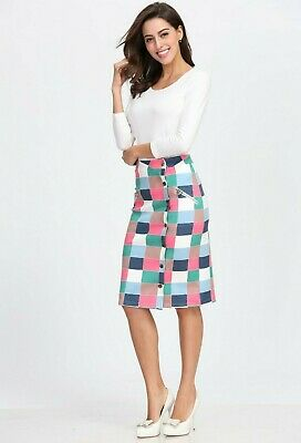 Purpless Maternity Formal Pencil Bodycon Midi Skirt Over and Under Belly Support Band Office Work 1504