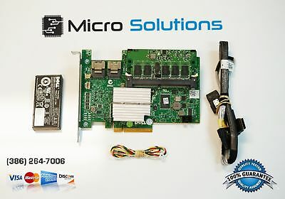 Dell PERC 512MB SAS W56W0 RAID Controller w/ Battery & Cables (Full Kit)