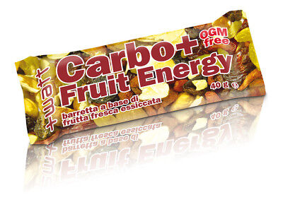 +WATT Carbo+ Fruit Energy 24x40g Barretta energetica a base di frutta essicata
