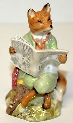 "Beatrix Potter's "" FOXY READING "" Figurine 1990 Wayne & Co. ROYAL ALBERT"