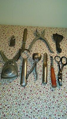Lot of 10 ANTIQUE & VINTAGE KITCHEN FRUIT AND VEGETABLE TOOLS