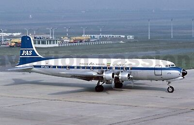 Aviation , photo , DC6_SABENA - PERSIAN AIR SERVICES_DC6_EP-AEN LBG 08-1960