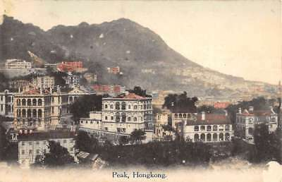Hong Kong China Peak Scenic View Of City Antique Postcard K85042