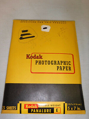 Vintage Expired Kodak 5x7 Photographic Paper Panalure E Double Weight  Sealed
