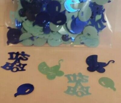 It/'s A Boy/'s Blue Baby Shower Party Foil Confetti Table Decoration Sprinkles