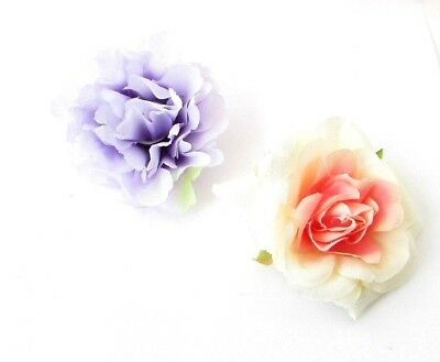 2 x Blush Pink Lilac Peony Rose Flower Hair Clips Bridesmaid Fascinator 5237