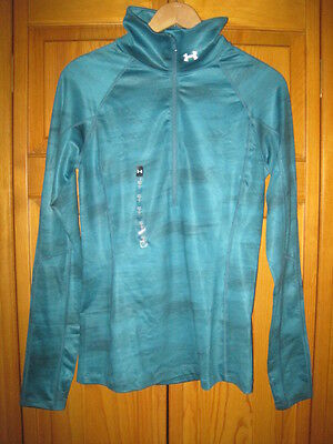Under Armour Cold Gear Fitted 1/2 zip pullover shirt women's S running NWT NEW