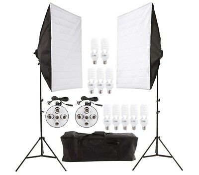 Set softbox fotografia 4499 due stand con 10 lampade da 45 W e comoda custodia