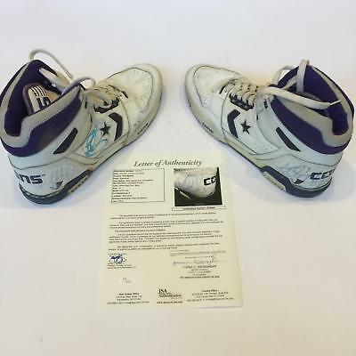 acc72827447712 1980 s Karl Malone Signed Game Used Cons Shoes Sneakers Pair Heavy Use JSA  COA