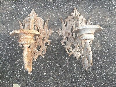 Pair of  Iron Wall Sconces.