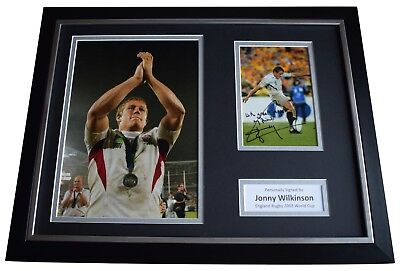 Jonny Wilkinson Signed FRAMED Photo Autograph 16x12 display England Rugby Union