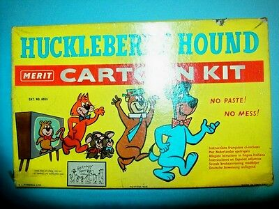 Rare 1959 Huckleberry Hound Cartoon Kit by Merit, Made & Sold in Europe-Unused!