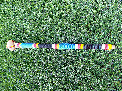"17.25"" Kenyan Maasai Rungu Warrior Staff Beaded Masai Kenya Africa Wood African"