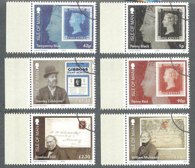 Isle of Man-Penny Black & Stanley Gibbons fine used cto set-2015