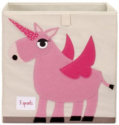 New - 3 Sprouts - Storage Box Cube - Unicorn - FREE SHIPPING