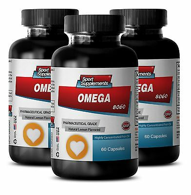 Natural Fish Oil - Omega 8060 1500mg - Detoxify Body Supplements 3B