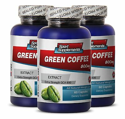Green Coffee 1000 - Green Coffee GCA® 800mg - Detoxify Your Body Supplement 3B