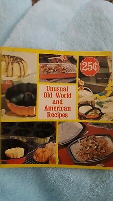 Vintage Nordic Ware Unusual Old World and American Recipes Cookbook